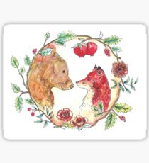 The bear and the fox  Sticker
