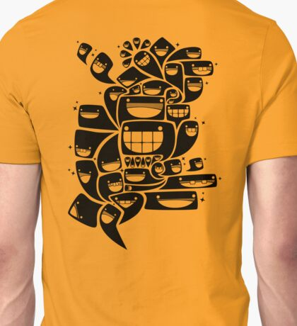 Happy Squiggles - 1-Bit Oddity - Black Version T-Shirt