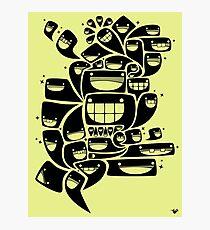 Happy Squiggles - 1-Bit Oddity - Black Version Photographic Print