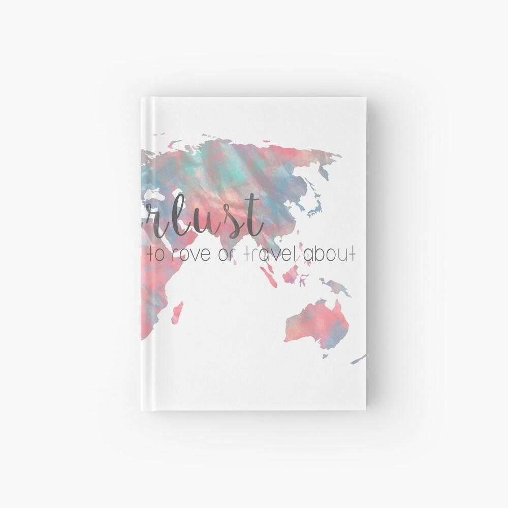 Fernweh Definition Teal und Pink Aquarell Karte Notizbuch