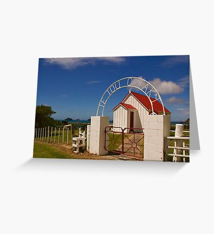 New Zealand Country Church Greeting Card