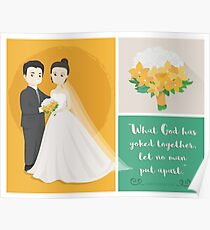 Newly Wed Caricature  Poster