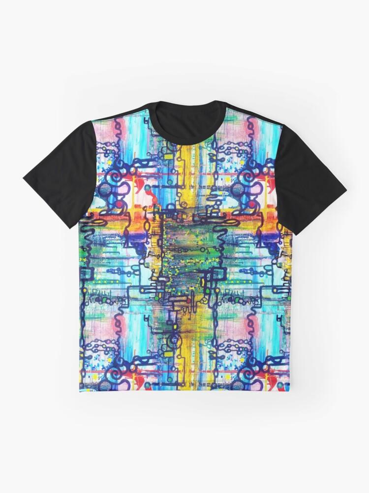 Alternate view of Emergent order - sharp borderless fabric pattern Graphic T-Shirt
