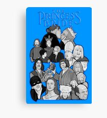 the Princess Bride character collage Canvas Print