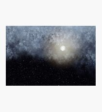 Glowing Moon in the night sky Photographic Print