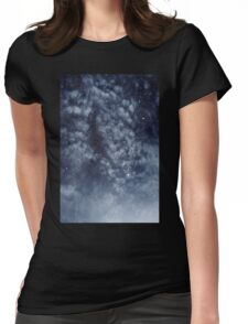 Blue veiled moon II Womens Fitted T-Shirt