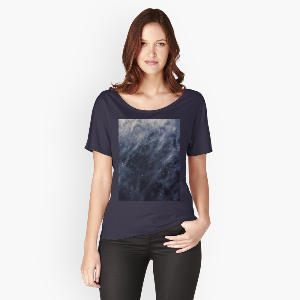 Blue Clouds, Blue Moon Relaxed Fit T-Shirt