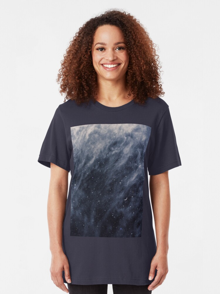 Alternate view of Blue Clouds, Blue Moon Slim Fit T-Shirt