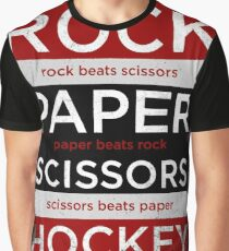 Rock, Paper, Scissors, Hockey Graphic T-Shirt