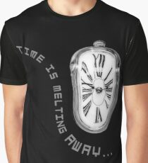 Salvador Dali Inspired Melting Clock. Time is melting away. Graphic T-Shirt