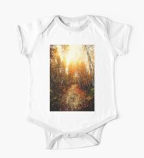 Red Forest, Washington in November One Piece - Short Sleeve