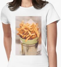 Fries in French Quarter, New Orleans Women's Fitted T-Shirt
