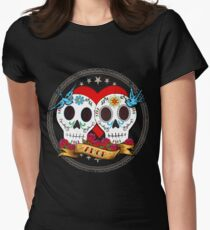 Love Skulls Womens Fitted T-Shirt