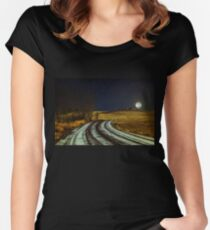 Somewhere, somebody out there is thinking of you Women's Fitted Scoop T-Shirt
