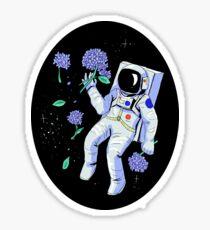 Hydrangea Astronaut Sticker