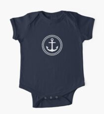 Nautical anchor inside rope border t-shirt Kids Clothes