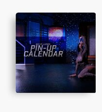 Sci-Fi Ladies Pin-Up Calendar Cover Canvas Print