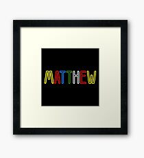 Matthew - Your Personalised Products Framed Print