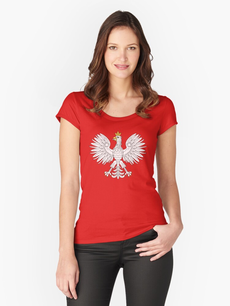 Polish Eagle Women's Fitted Scoop T-Shirt Front