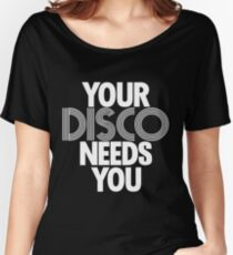 Kylie Minogue - Your Disco Needs You (white text) Women's Relaxed Fit T-Shirt