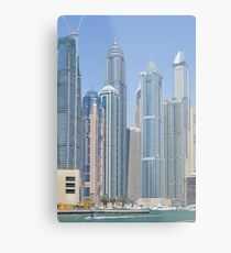 Photography of tall buildings, skyscrapers from Dubai. United Arab Emirates. Metal Print
