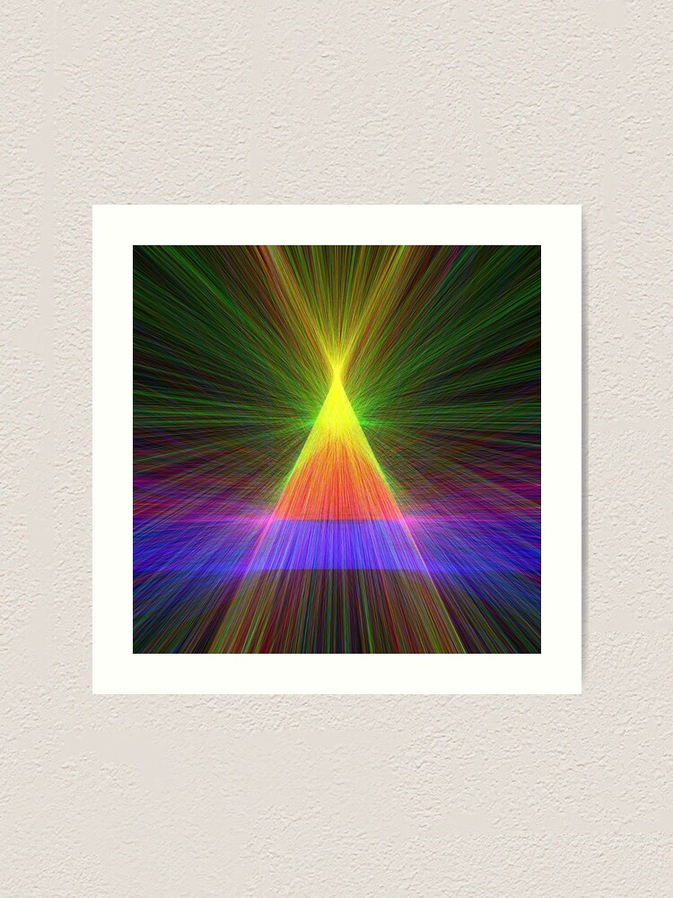 Alternate view of Linify Linify Light Tower, Pyramid Art Print
