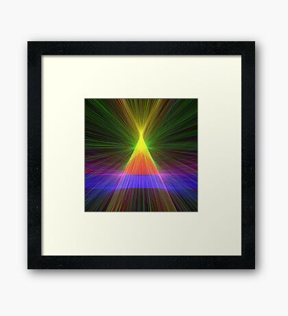Linify Linify Light Tower, Pyramid Framed Print