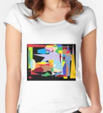 Abstract colour mix background Women's Fitted Scoop T-Shirt