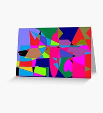 color abstract scribble background Greeting Card