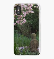Buddha amongst the Rhododendrons (vertical) iPhone Case/Skin
