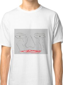 Worried and sad face Classic T-Shirt