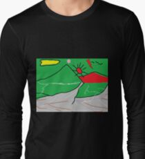 View of mountains landscape abstract T-Shirt