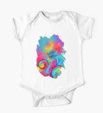 PINK FUCHSIA BLUE YELLOW WHIMSICAL FLOWERS Kids Clothes