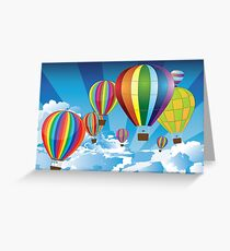 Air Balloons in the Sky Greeting Card