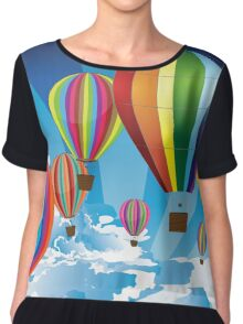 Air Balloons in the Sky Chiffon Top