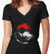 Pokeball Women's Fitted V-Neck T-Shirt