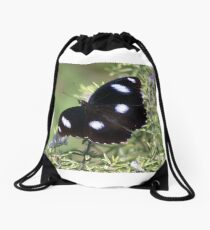 Butterfly at Rest Drawstring Bag