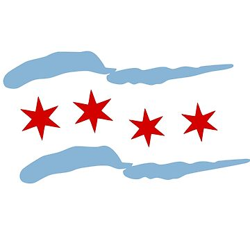 Chicago flag by silverorlead