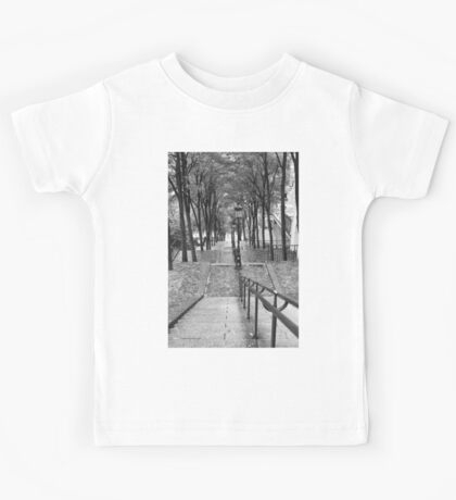 Escalier - Montmartre - Paris Black and White Kids Clothes