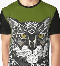 snow leopard green Graphic T-Shirt