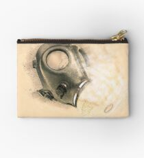 Digitally enhanced Gas Mask elevated side view  Studio Pouch