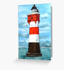 Nordsee Leuchtturm Roter Sand Greeting Card