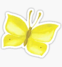 Summer watercolor beautiful tropical butterfly Sticker