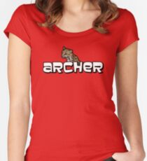"Archer - Babou ""Fox eared asshole"" Women's Fitted Scoop T-Shirt"