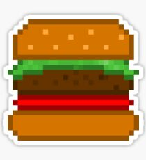 Pixel Burger Design Illustration Stickers Redbubble