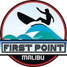 Surfing First Point Malibu California Surf Surfboard Waves Ocean Beach Vacation by MyHandmadeSigns