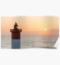 Sunrise at the Lighthouse Poster