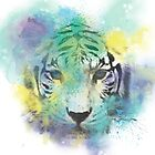Abstract Tiger by Amir Faysal