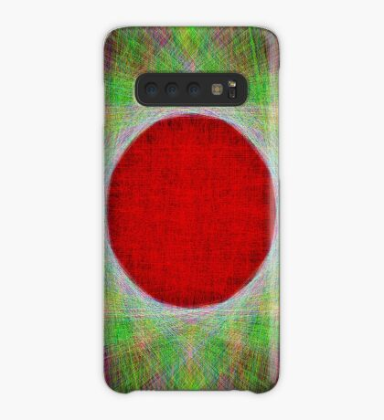 Red Button Planet Case/Skin for Samsung Galaxy