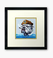 Salziger Hund Gerahmtes Wandbild